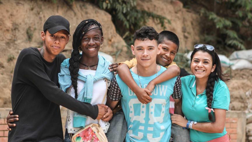 In den SOS-Kinderdörfern in Kolumbien wachsen junge Menschen verschiedener Kulturen gemeinsam miteinander auf. Foto: Gita Carli Moen