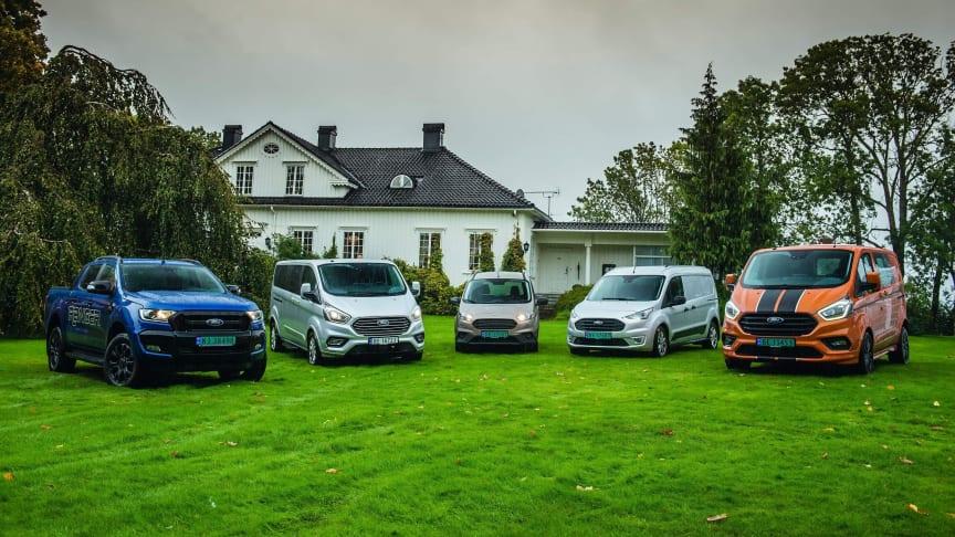 Ford satte salgsrekord på nyttekjøretøy i Norge i 2018