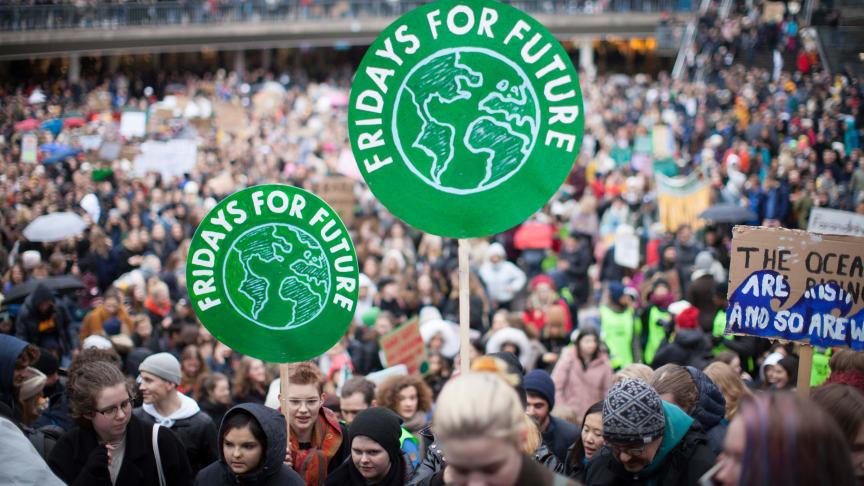 Foto av Anders Hellberg från tidigare manifestation i Stockholm