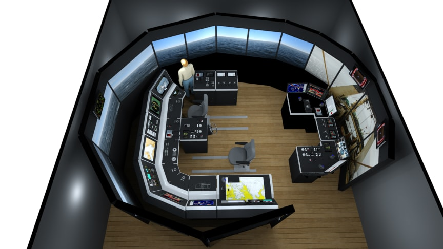 Illustration of a full mission K-Sim Fishery simulator with new purse seine functionality for studies and training