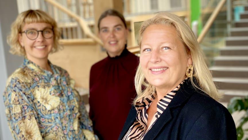 Mona Sundin, Petra Kreij och Ewa Sandeheim i gemensam satsning för jämställda styrelser.