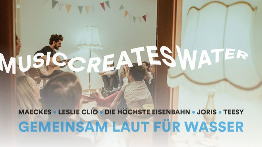 Mach Dein Wohnzimmer zur Bühne für sauberes Trinkwasser! Jetzt bewerben: sofaconcerts.org/musiccreateswater