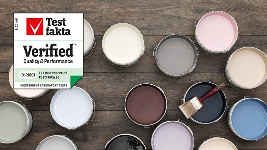 Rustas väggfärg Nyans uppfyller Testfaktas höga kvalitetskrav
