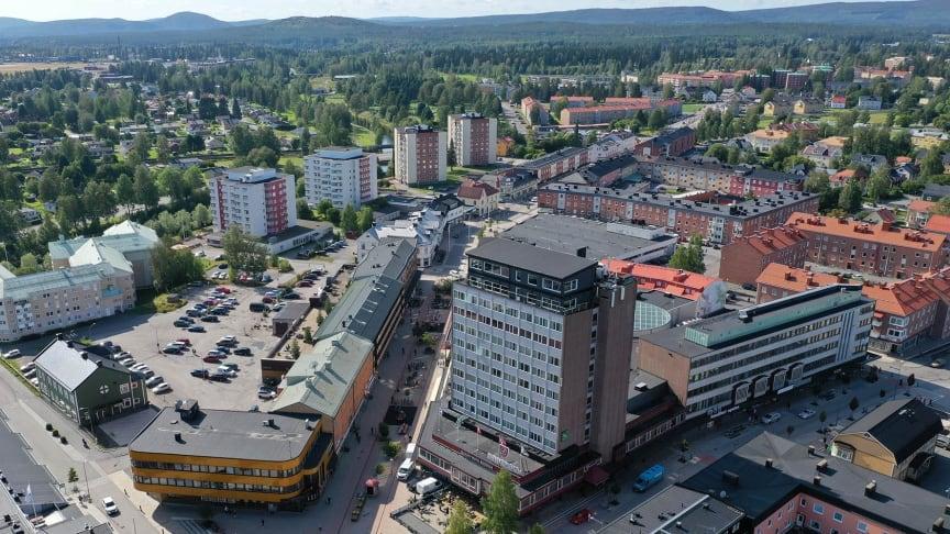 Bild från centrum i Boden. Foto Bodens kommun/KOMM