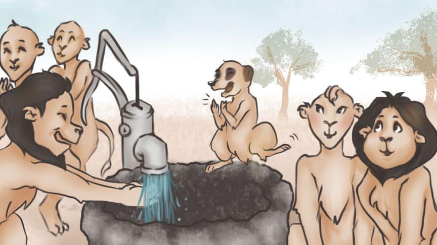 Den nyeste barneboken fra GROHE handler om viktigheten med god håndhygiene.