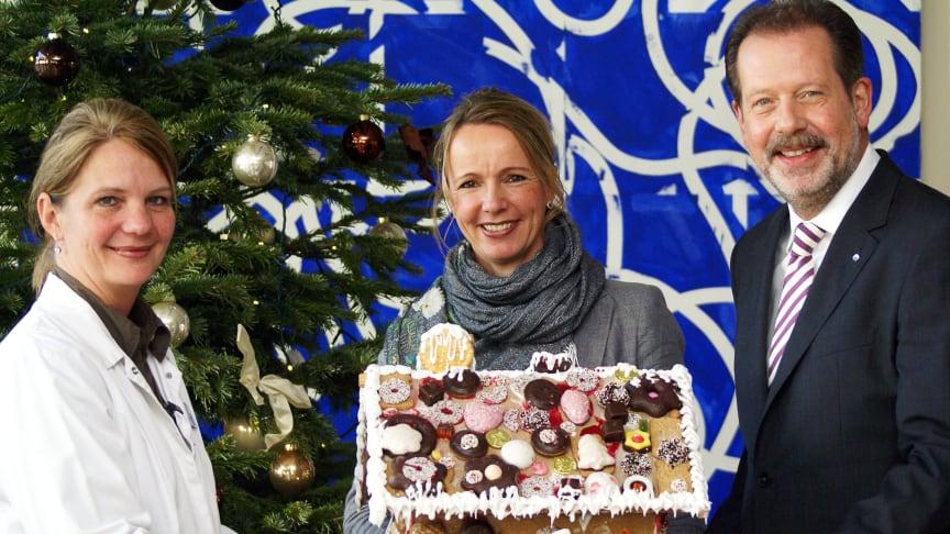 Knusperhaus für Kinderpalliativzentrum Datteln: Süße Weihnachtsgrüße