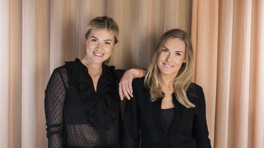 Från vänster: Johanna Sjögren och Fanny Sjöström, grundarna till träningstjänsten Swiftr