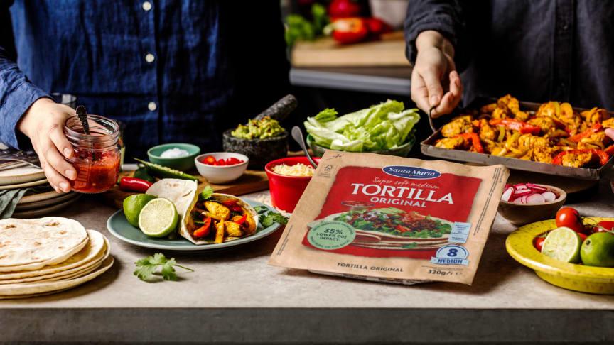 Ny tortillaförpackning sparar 150 ton plast