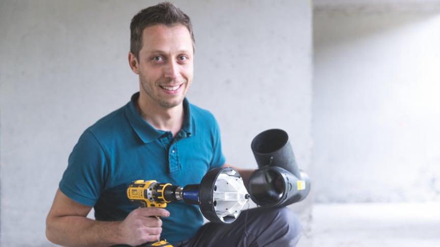 Fördelar för hantverkare: De nya produkterna i Geberits rörsystem gör livet enklare för installatören.