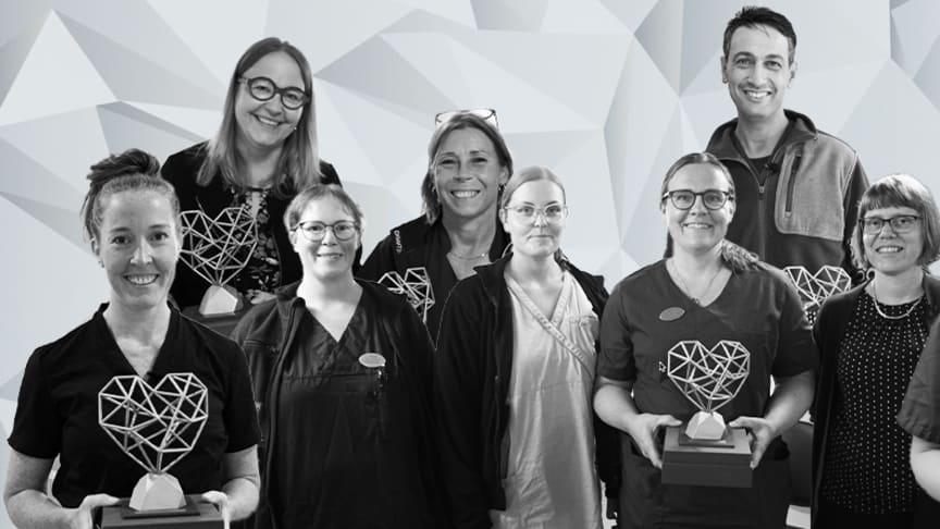 Praktikertjänsts pris Guldhjärtat delades i år ut till Prima Familjeläkarmottagning, Alepraktiken och Tandläkarna Norman.