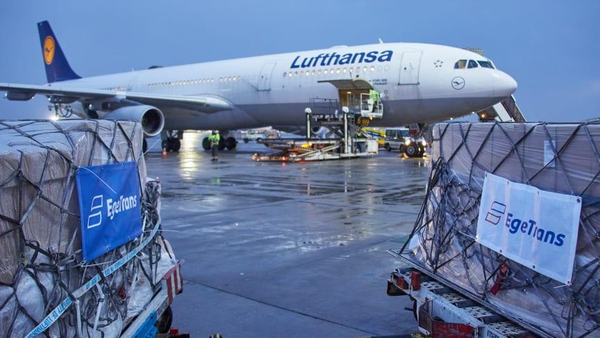 Lufthansa Cargo ermöglicht über 50 Prachterflüge für EgeTrans