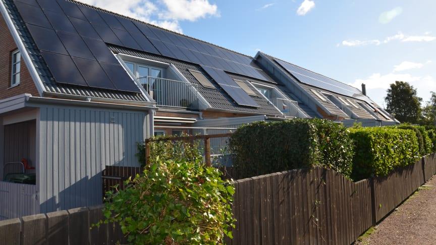 Solceller sänker kostnaderna med 7 000 om året per lägenhet i Höllviken