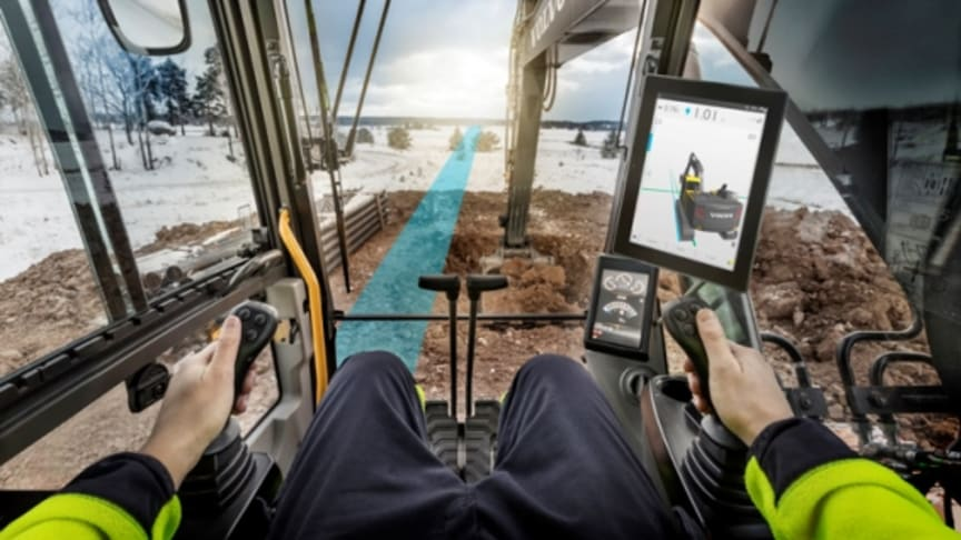 The Volvo Co-Pilot uses a tablet computer to deliver a new generation of intelligent machine services