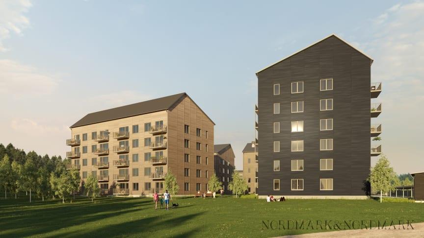 Kvarteret Dubbelkrut tar form – Lindbäcks bygger nytt i Skellefteå