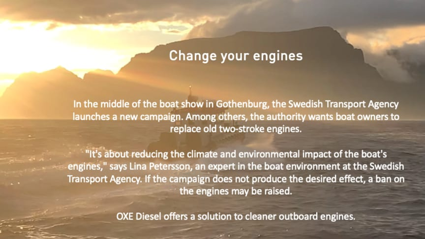 OXE Diesel offers a solution to cleaner outboard engines.