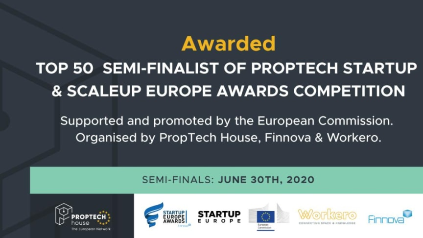 Egain nominerade till PropTech Startup Europe Awards 2020!
