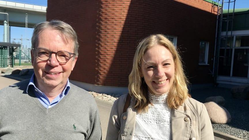 Lars Andersson, Sverigedirektör Nouryon och Nina Cromnier, generaldirektör Kemikalieinspektionen