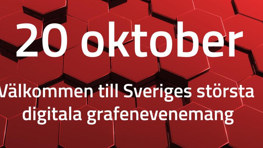 Den 20 oktober presenteras rykande färska resultat från svensk grafenbransch under den digitala konferensen Svenskt Grafenforum.