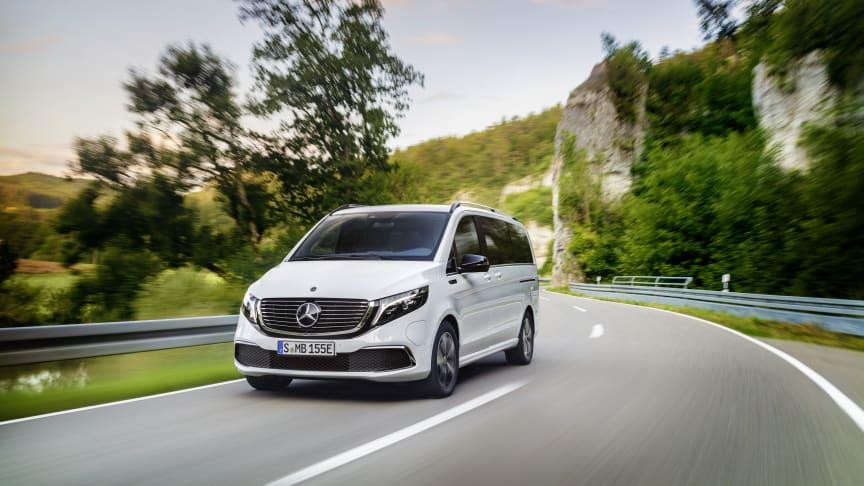 Mercedes-Benz EQV: Verdenspremiere på første elektriske minivan i premiumsegmentet