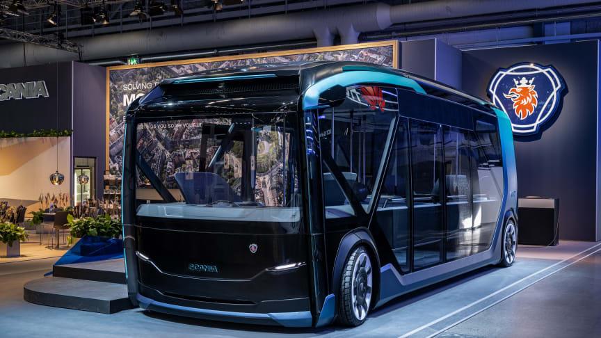 Scanias ingeniører har tænkt ud af boksen og løftet modulsystemet til nye højder med et konceptkøretøj, der kan skifte form til forskellige kørselsopgaver i byer.