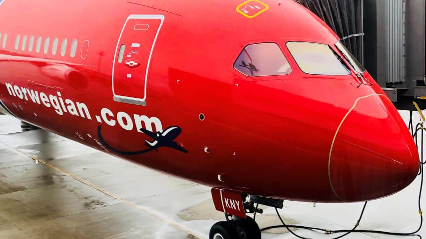 Norwegian modtager fly nummer 150 fra Boeing