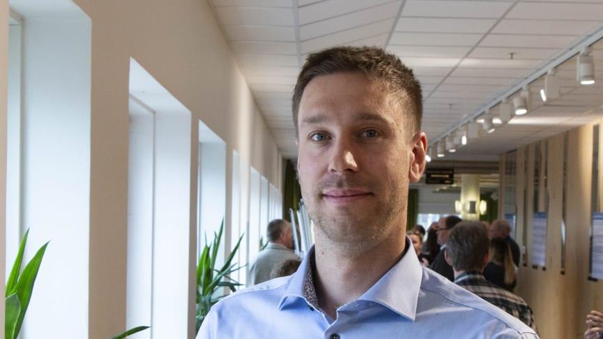 Johan Liljebäck, Svartbyn, Överkalix kommun nyinvald i Norrmejeriers styrelse. Foto: Mariann Holmberg