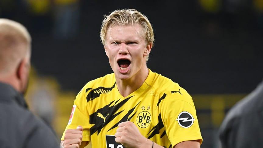 Kommentator for NENT Group, Roar Stokke, tror Erling Braut Haaland kan gjøre det godt i UEFA Champions League denne sesongen. FOTO: Ritzau Scanpix