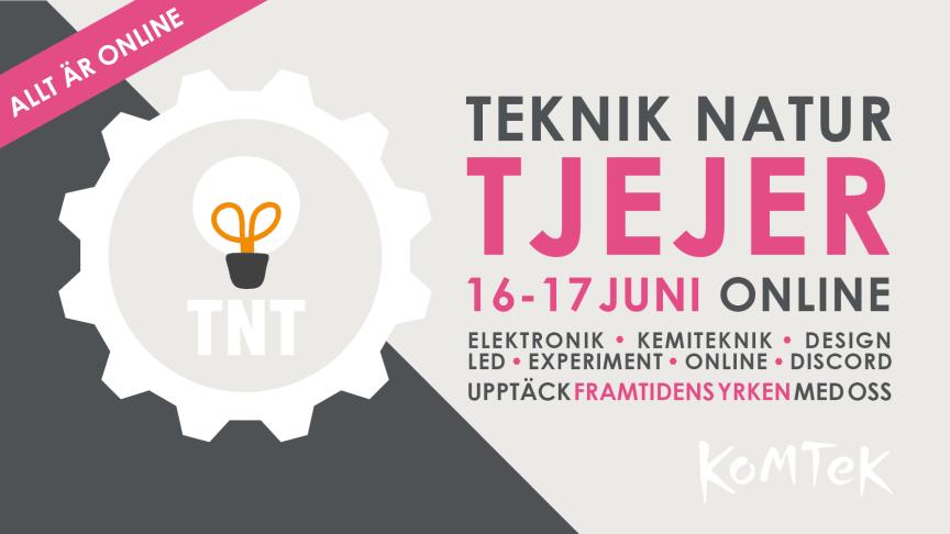 TNT Online 16–17 juni – årets teknikdagar för tjejer i årskurs 7 och 8!