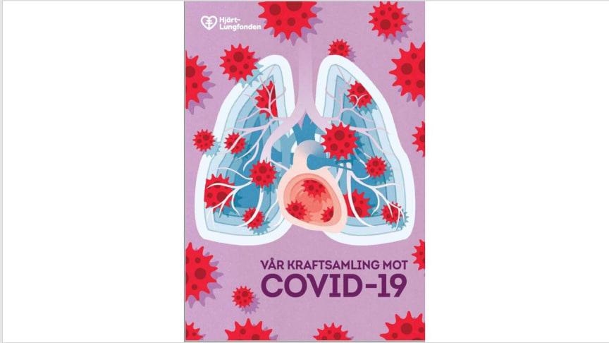 Hjärt-Lungfondens covidrapport, omslaget