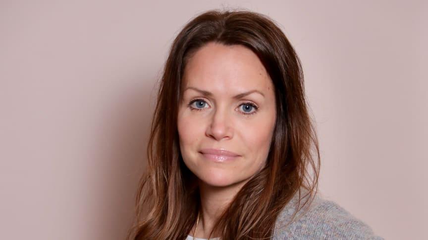 På bilden: Ulrika Berg, tillträdande markandschef för Bygma Sverige.