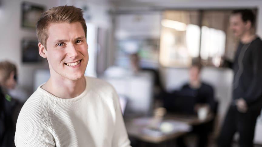 Samuel Holmström, vd för Lundqvist Trävaru. Foto: Paulina Holmgren
