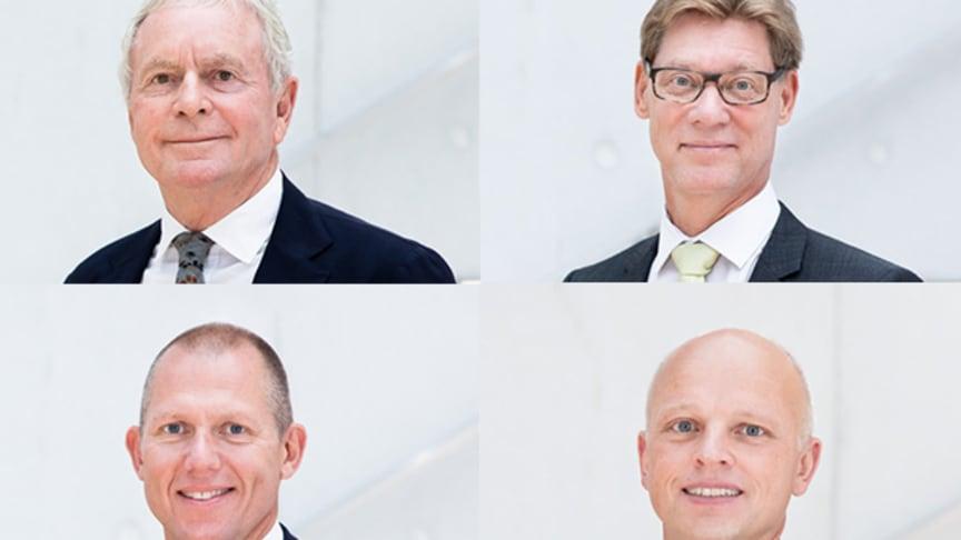 Kurt K. Larsen (oben links), Thomas Plenborg (oben rechts), Jens Bjørn Andersen (unten links) und Jens H. Lund (unten rechts). (Bild: Panalpina)