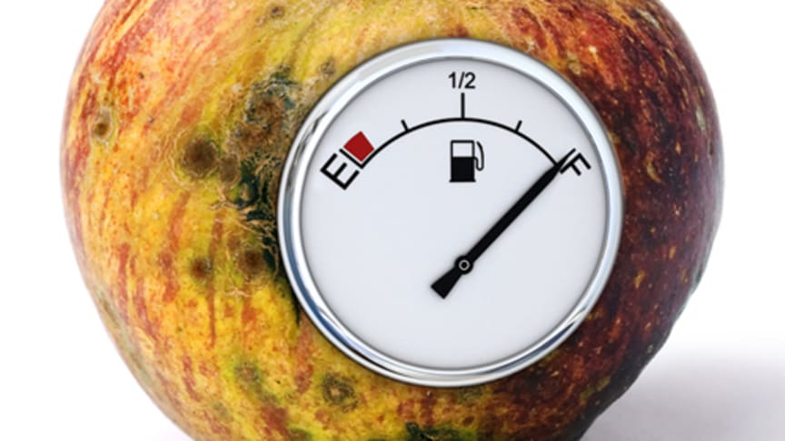 På 10 kg matavfall kan man köra 1,9 mil.