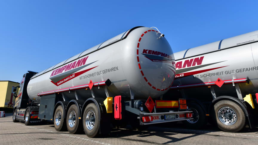 Gasauflieger der Kempmann Speditions GmbH