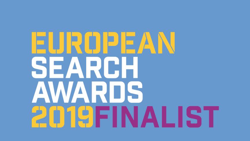Bluebird Media tvåfaldigt nominerade i European Search Awards  - branschens mest prestigefyllda tävling