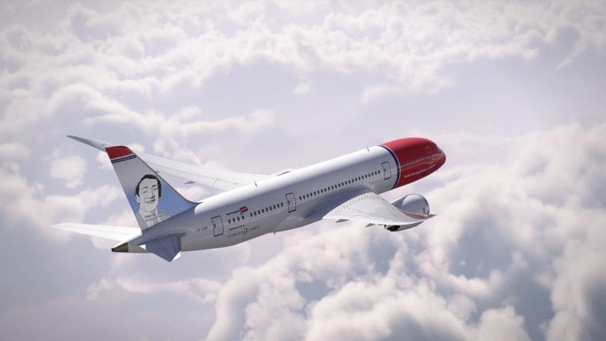 Harvey Milk takes to the skies as Norwegian's latest tail fin hero