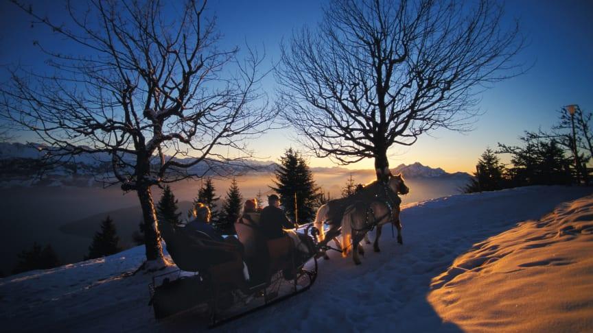 Pferdekutschfahrt auf der Rigi © Luzern Tourismus