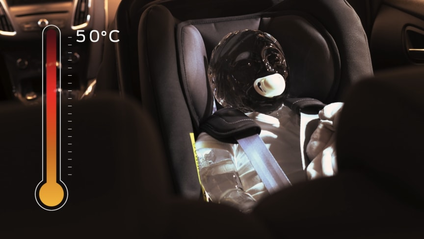Ford-teknologi skal motvirke at barn blir etterlatt i varme biler