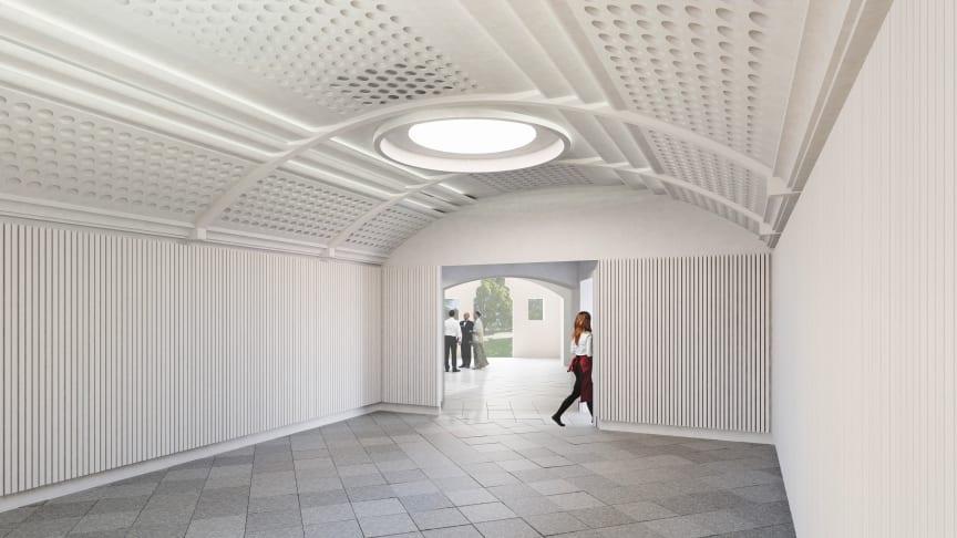 Så här fin blir den nya församlingssalen. Bild: Lone-Pia Bach, Bach Arkitekter AB.