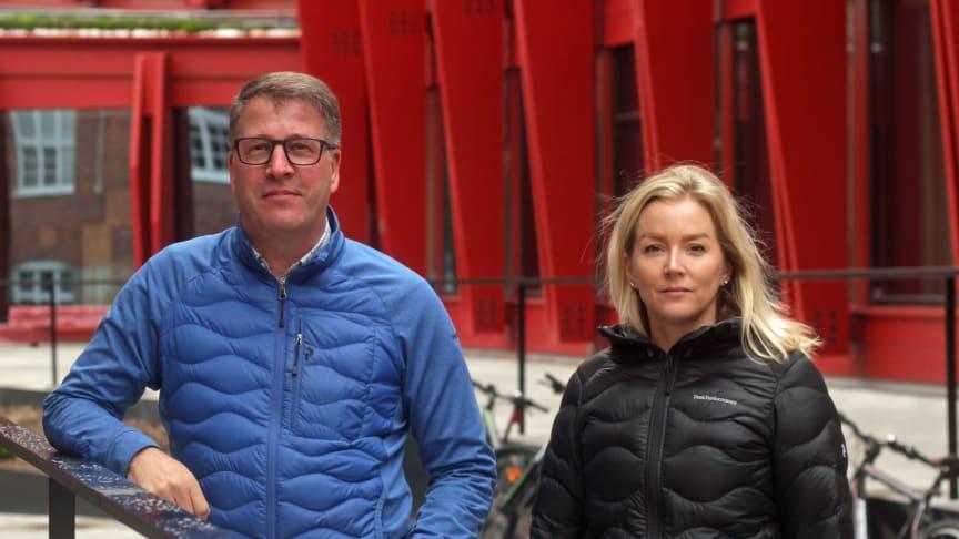 Roger Hansson vd på Gällivare Näringsliv AB och Monica Johansson företagslots på Gällivare Näringsliv AB.