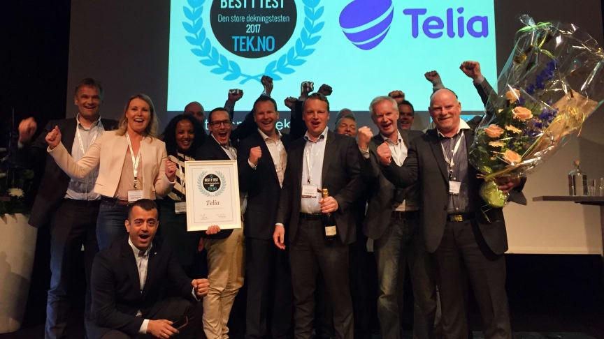Jubler for andre året på rad: Telia-nettet er best i Norge, også i 2017.