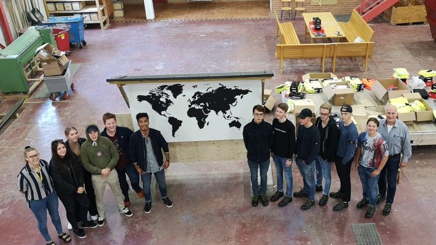 Lights from Alingsås, ett samarbete mellan Bygg- och Elprogrammet på Alströmergymnasiet