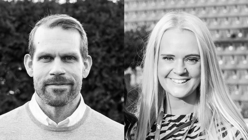 Mikael Hyltse och Lisa Angelin är nya fastighetschefer hos Willhem.