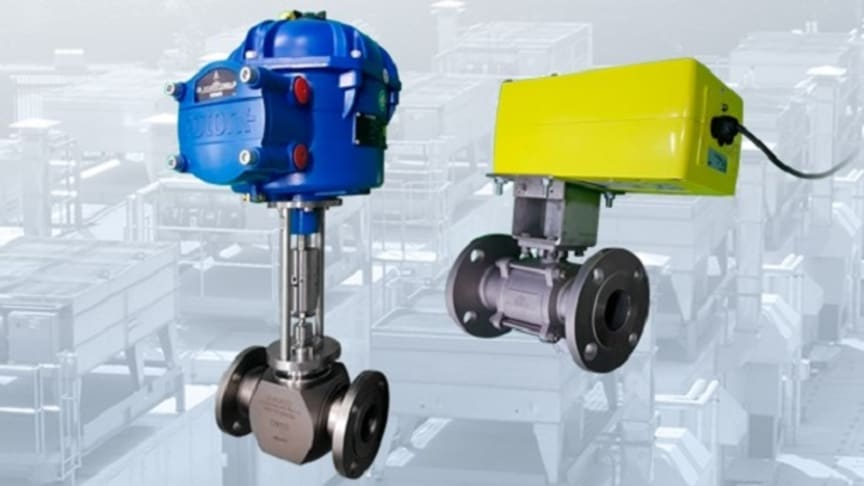 An ExMax-15-F1 electric actuator and Rotork CVL500 actuator attached to valves.