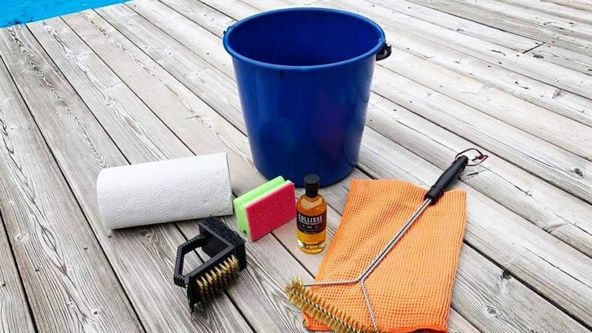 Komplett kit för rengöring av gasolgrillen.