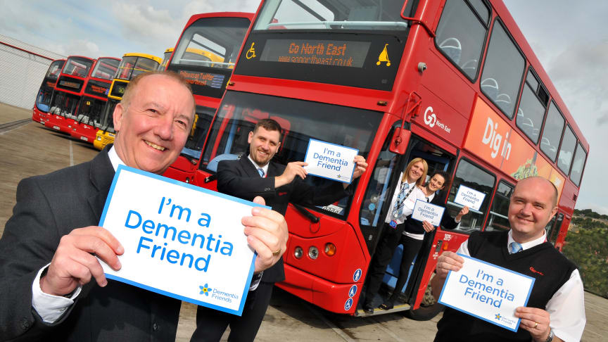 Go North East wins Silver Inclusive Tourism Awards for initiatives such as Dementia Friends