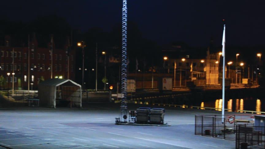 Smålandshamnar Oskarshamn - Först i Sverige med Titan LED mastbelysning