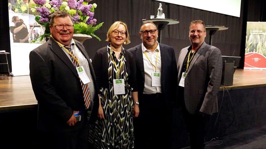 Lennart Magnusson, Elizabeth Hanson, Saul Becker och Tim Moore.
