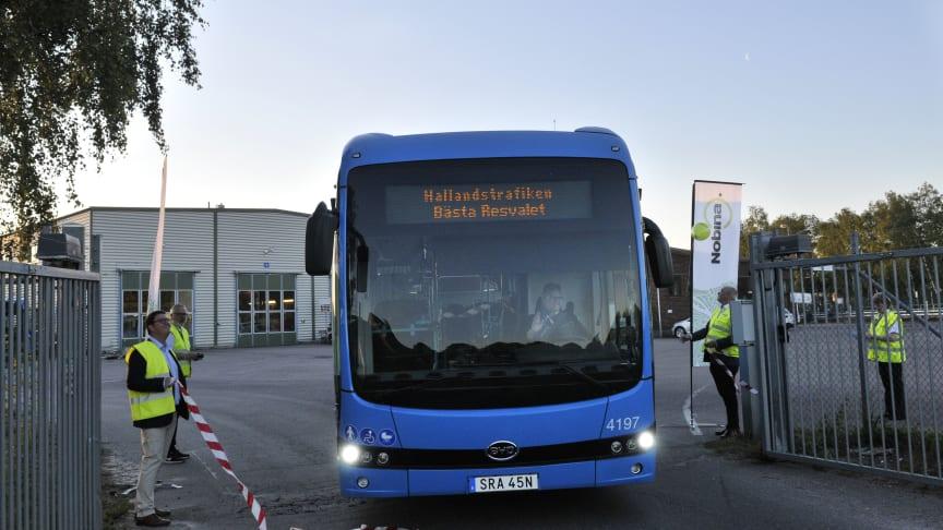 Invigningen av våra nya bussar den 15 juni 2020.