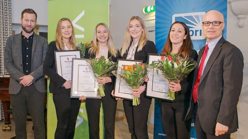 Från vänster till höger i bild: Jakob Hellman, Paulina Sawicki, Karin Nilsson, Kajsa Eckerwall, Ebba Andersson och Magnus Aronsson. Foto: Angie Gray.